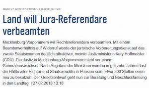Bild Link Seite Verbeamtung von Referendaren